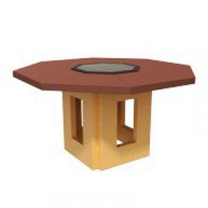 Восьмиугольный стол-гриль
